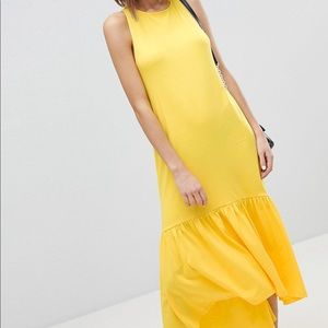 NEW ASOS Yellow Racerback Maxi Dress